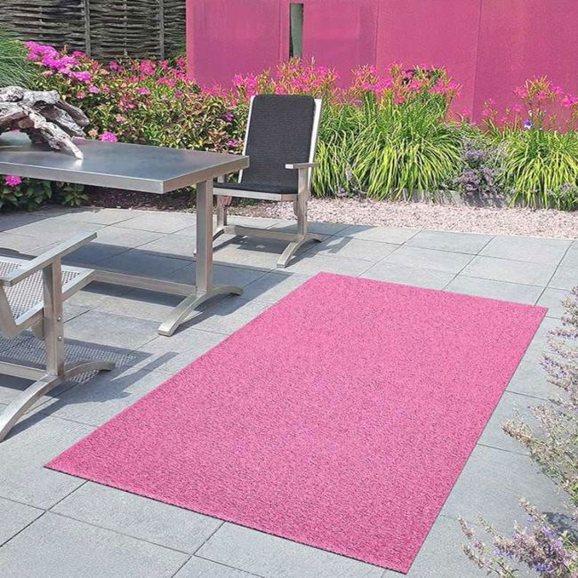 Poppy Pink 25mm Coloured Grass By, Pink Outdoor Rug Uk