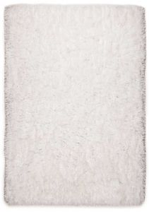 101 Flocatic White Shaggy Rug by Tom Tailor