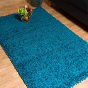 Blue 0910 Glasgow OPUS Luxury Shaggy Rug 1