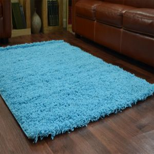 Teal 0911 Glasgow OPUS Luxury Shaggy Rug 1
