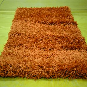 Burnt Orange 0916 Glasgow OPUS Luxury Shaggy Rug 1