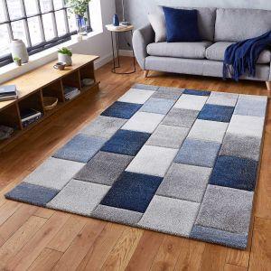 Think Rugs Brooklyn 21830 Grey/Blue Rug