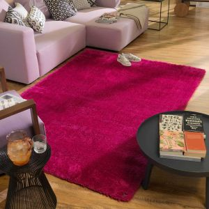 232 Pink Soft UNI Shaggy Rug by Tom Tailor