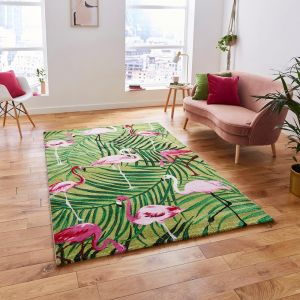 Havana 2349 Green Pink Rug by Think Rugs