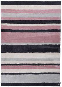 255 Powder Fashion Stripes Rose Multi Rug by Tom Tailor