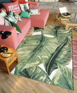 305 Leaf Green Multi Garden Rug by Tom Tailor