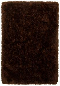 508 Flocatic Dark Brown Shaggy Rug by Tom Tailor