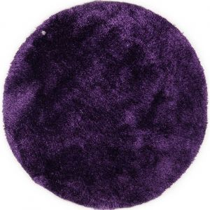 751 Purple Soft UNI Shaggy Circle Rug by Tom Tailor