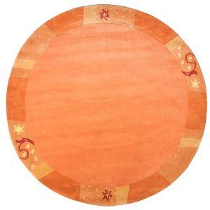 991-450 Ganges Terra Harmony Wool Circle Rug by Theko