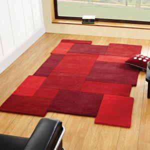 Abstract Collage Red Rug By Flair Rugs