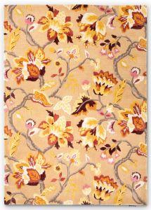 Amanpuri 145103 Russet Floral Rug by Sanderson