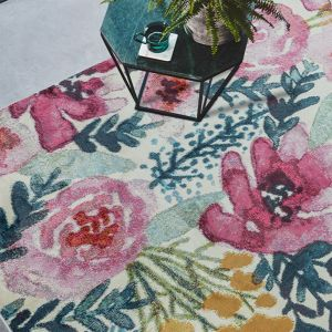 Amelie AM02 Meadow Floral Rug by Asiatic