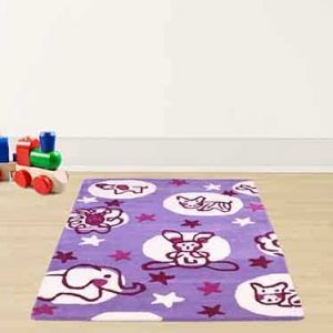 Unique Kids Bunny Elephant Rugs by Prestige