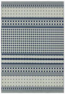 Antibes AN06 Blue Cream Geometric Rug by Asiatic