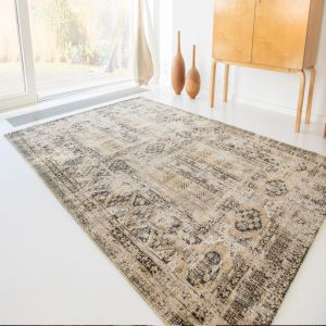 Antique Hadschlu 8720 Agha Old Gold Rug by Louis De Poortere