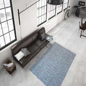 Aperitif 410 Blue Modern Rug by Kayoom