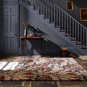 Artichoke 127103 Amber Charcoal Floral Rug by Morris & Co.