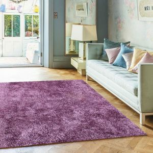 Diva Heather Shiny Polyester Rug by Asiatic