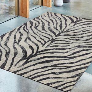 Nova NV27 Zebra Grey Abstract Rug by Asiatic