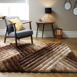 Verge Lattice Brown/Bronze Rug by Flair Rugs