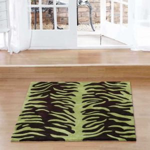 Aspire Tigre Choc Green Rugs By Ultimate Rug 1