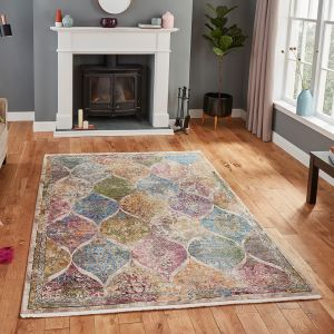 Athena 24021 Multi Geometric Rug by Think Rugs