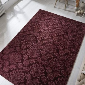 Barada Damascus Mauve Floral Rug by Flair Rugs