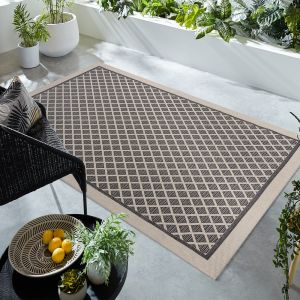 Basento Dia Grey Flateweave Rug by Flair Rugs
