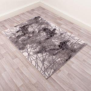 Bianco 185TA Dark Grey Abstract Rug by Ultimate Rug