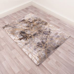 Bianco 185TA Grey Gold Abstract Rug by Ultimate Rug
