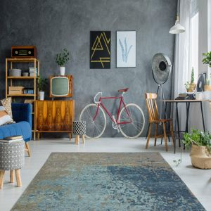 Blaze 100 Multi / Blue Rug by Arte Espina