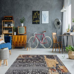 Blaze 500 Multi / Blue Rug by Arte Espina