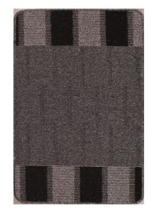 Blocks Black Washable Mat by Rug Style