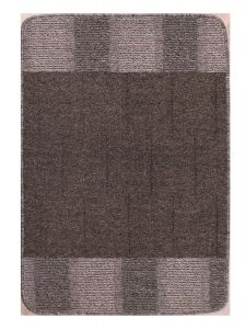 Blocks Charcoal Washable Mat by Rug Style