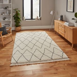 Boho 8280 Cream Grey Rug by Think Rugs