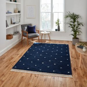 Boho A475 Navy Rug by Think Rugs