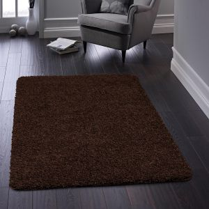 Buddy Brown Washable Plain Rug By Origins