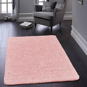 Buddy Candy Pink Washable Plain Rug by Origins