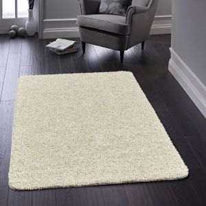 Buddy Cream Washable Plain Rug By Origins
