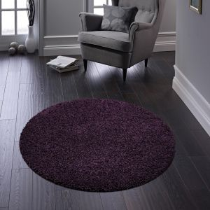 Buddy Purple Washable Plain Circle Rug By Origins