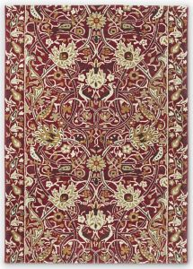 Bullerswood 127300 Red Gold Floral Rug by Morris & CO.
