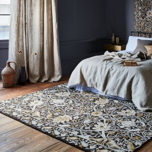 Bullerswood 127305 Charcoal Mustard Floral Rug by Morris & CO.