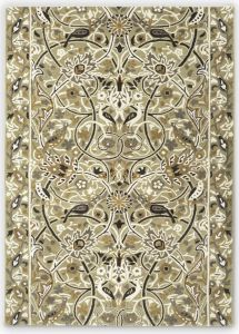 Bullerswood 127301 Stone Mustard Floral Rug by Morris & CO.