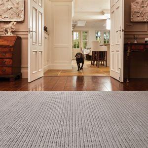 Cable Warm Grey Wool Rug by Origins