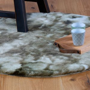 Camouflage CAM 915 Green Shaggy Rug by Obsession