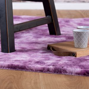 Camouflage CAM 915 Purple Shaggy Rug by Obsession