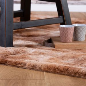Camouflage CAM 915 Rust Shaggy Rug by Obsession