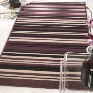 Element Prime Canterbury Purple/Black Rug by Flair Rugs