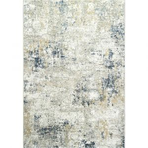Canyon 052-00297777 Beige Blue Contemporary Abstract Rug by Mastercraft
