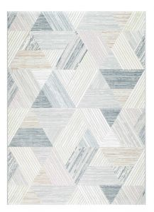 Canyon 052 - 0047 6464 Beige Striped Contemporary Rug by Mastercraft